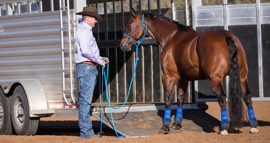 Use Clinton Anderson Approach and Retreat Method Horse Trailer