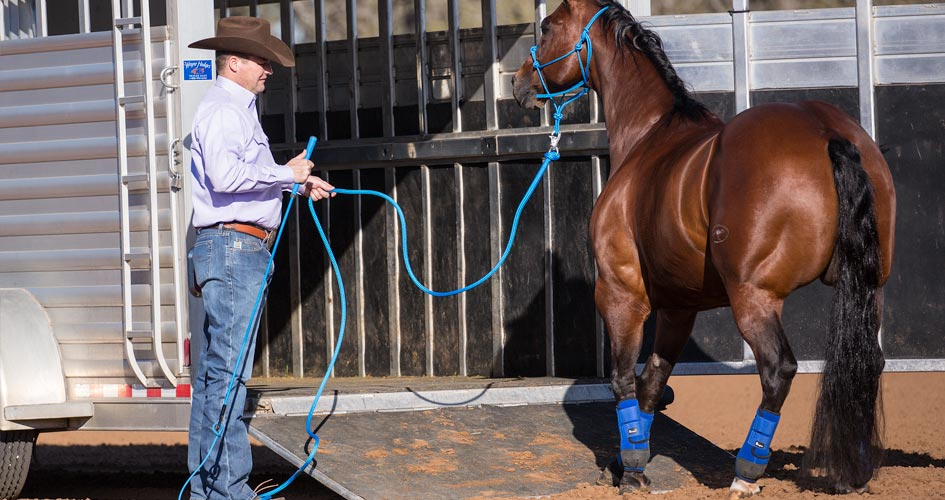 Approach and Retreat Method - Back horse away from trailer.